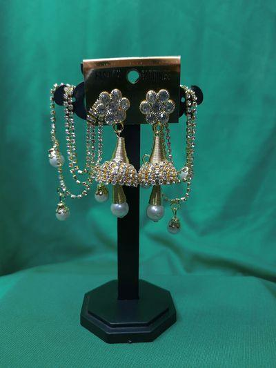 NextBuye Traditional Earrings with Chain Through Ear 3