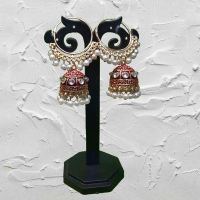 NextBuye Ethnic Hoop Jhumka Earrings 6