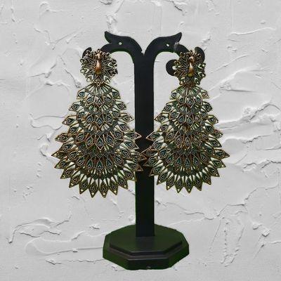 NextBuye Layered Peacock Earrings