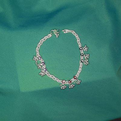 NextBuye Stylish Silver Plated Traditional Anklets for Girls