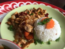 Chicken with cashew nuts @ Thai Farm Cooking School