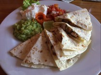 Chicken quesadilla @ Taca Casa
