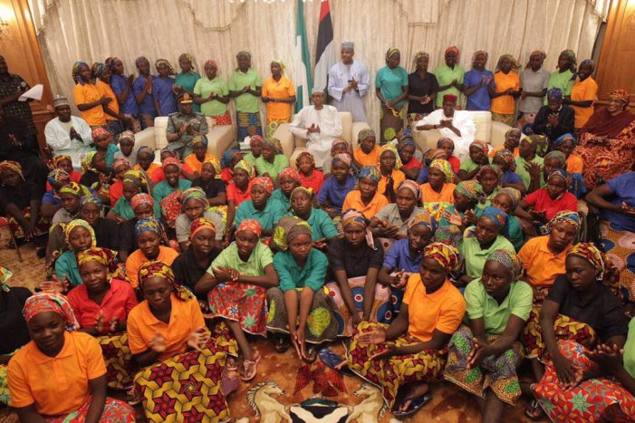 Buhari meets 82 Chibok girls, expresses joy