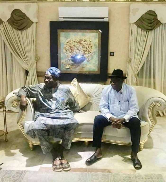 PHOTOS OF THE DAY:  Obasanjo meets Jonathan behind closed doors