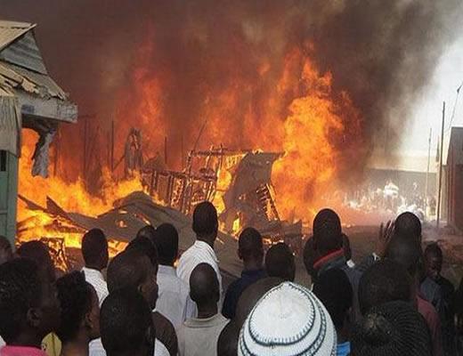 Fire guts Jos main market