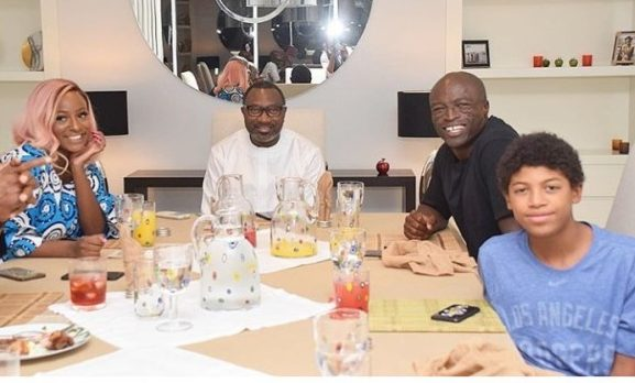 PHOTO OF THE DAY:  Seal visits Otedola, DJ Cuppy