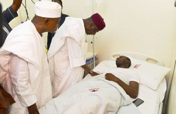 PHOTOS OF THE DAY:  Presidency visits pilot of crashed aircraft