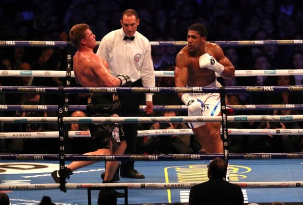 Image result for Anthony Joshua knocks out Povetkin