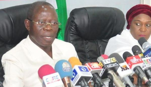 There is a gang up to remove me, Oshiomhole cries out