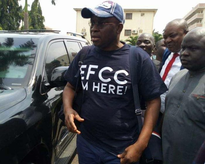 'I'm here!' Fayose submits self to EFCC