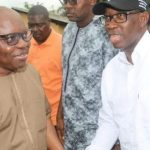 Okowa Felicitates with Uduaghan at 64