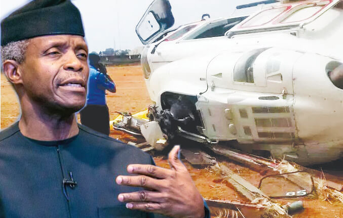 Image result for Osinbajo's Crash: AIB's Preliminary Report Says Caverton Failed To Conduct Site Survey