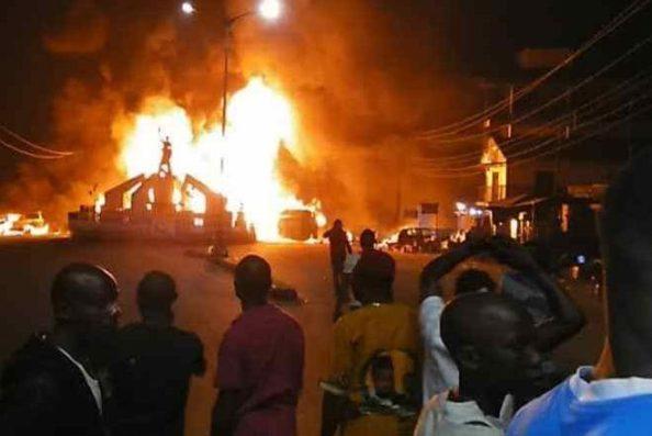 Two feared killed, 8 injured in petrol tanker fire in Awka