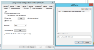 eLux USB DENY rile for horizon view and OS in general
