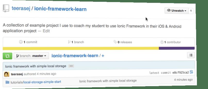 Teerasej Ionic Framework Learn Github