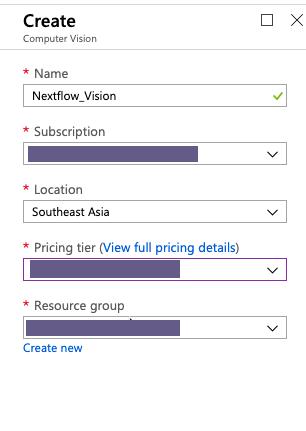 Azure - Create Computer Vision resource