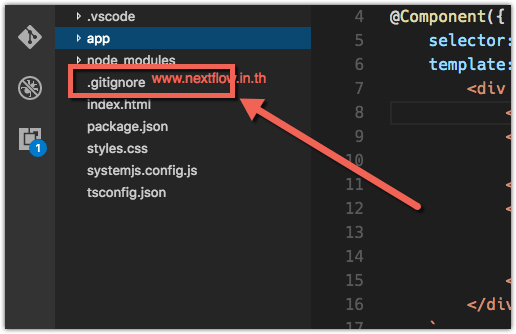 Git Ignore in Node Project Visual Studio code.png