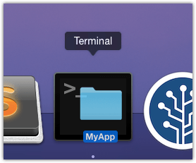 MyApp open folder in Terminal