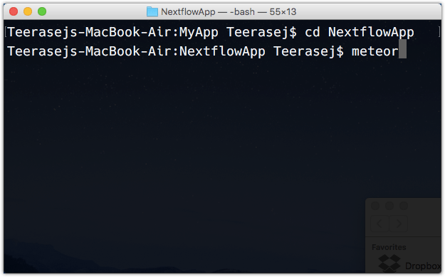 Terminal Go in meteor project folder OS X.png