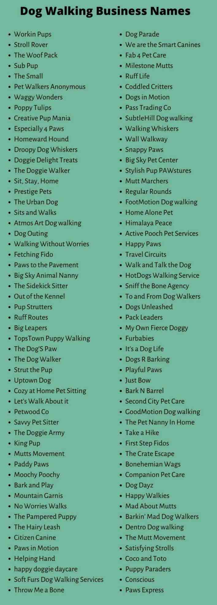 Dog Business Names
