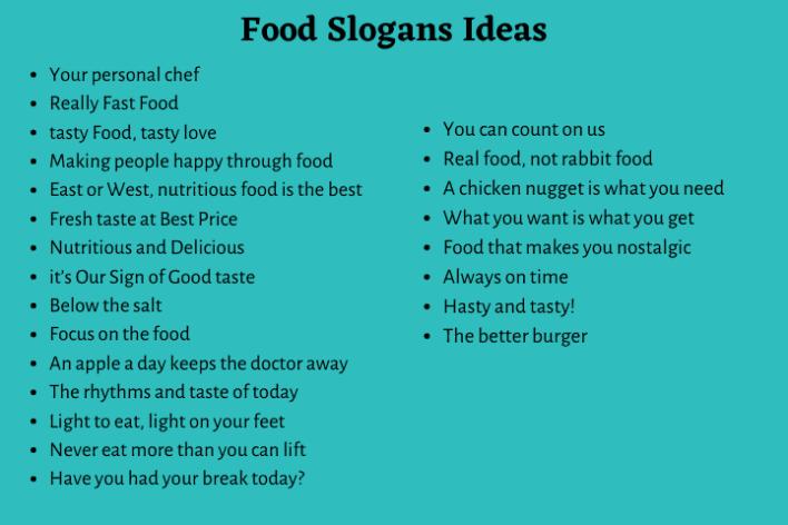 Food Slogans