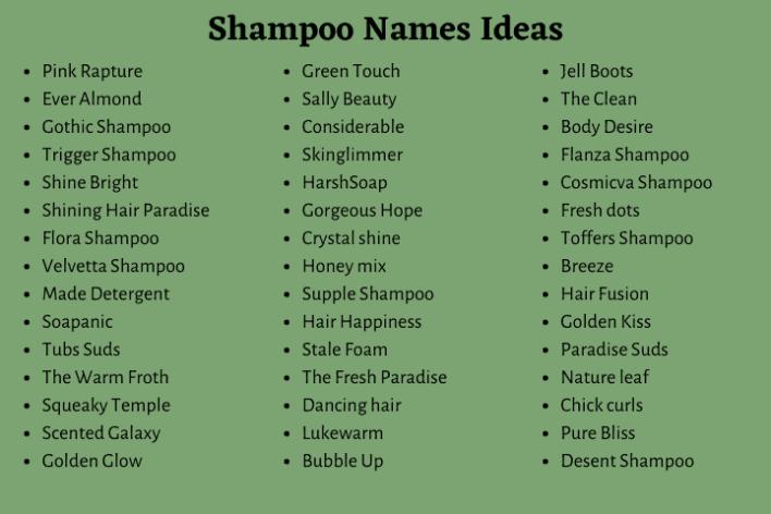 Shampoo Company Names
