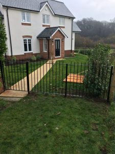 Steel Railing and Gate Fabrication for a customer in Hamble