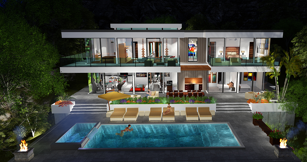 Two Story Modern Glass Home Design | Next Generation ... on Modern Glass Houses  id=41448