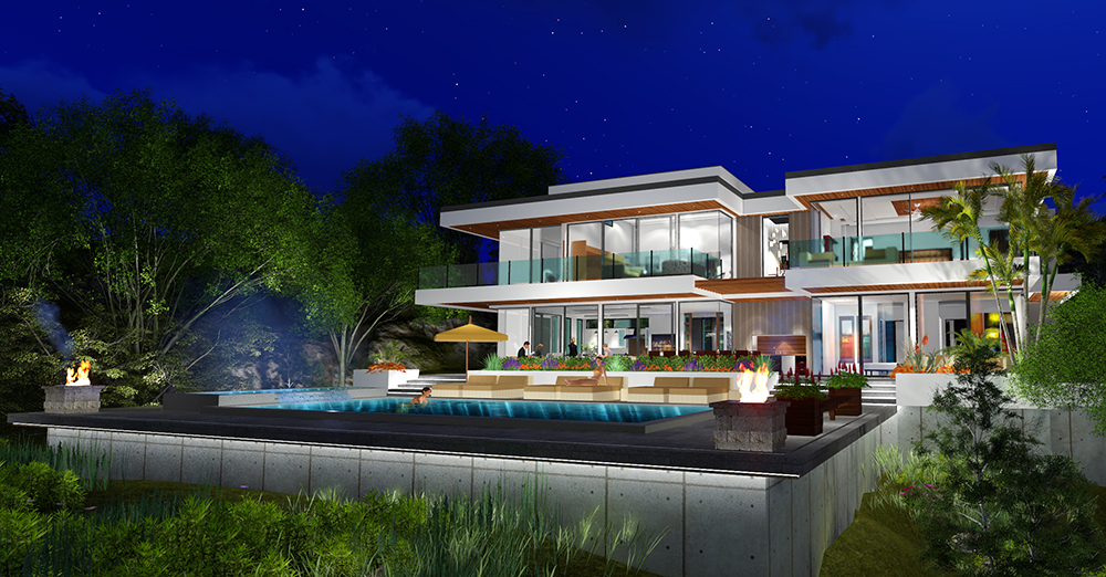 Two Story Modern Glass Home Design - Next Generation ... on Modern Glass Houses  id=53199