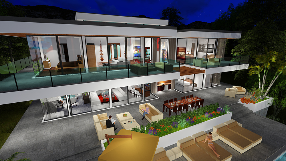 TWO STORY MODERN GLASS HOME DESIGN - Gallery   Next ... on Glass House Design Ideas  id=80811