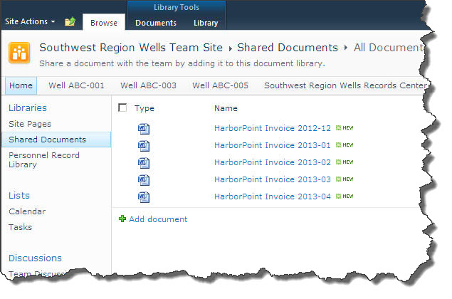 Unstructured Invoices