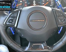 Colored/Carbon Fiber Steering Wheel Trim | 2016-2020 Camaro
