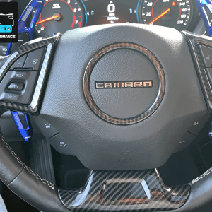 Colored/Carbon Fiber Steering Wheel Trim | 2016-2021 Chevy Camaro