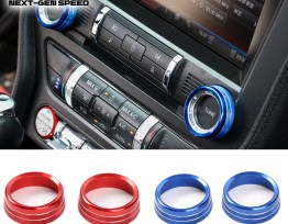 Colored Radio Knobs | 2015-2020 Ford Mustang