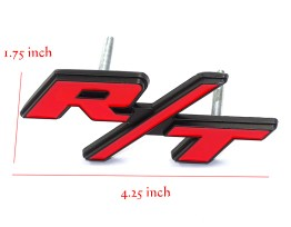 Black/Silver/Red RT Grille Badge