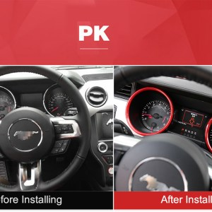 Speedometer Rings – Carbon Fiber/Colored | 2015-2020 Ford Mustang