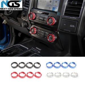 Colored Interior Knob Covers | 2016-2021 Ford F-150