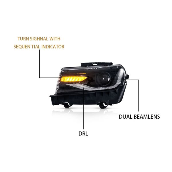 6th Gen Style VLAND Headlights | 2014-2015 Chevy Camaro