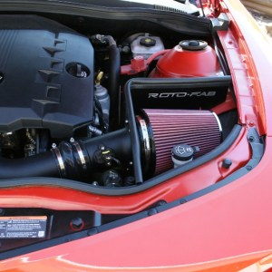 Camaro V6 Cold Air Intake 10-11 Camaro Oiled Filter Roto-fab
