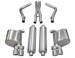 2.5 Inch Cat-Back Xtreme Dual Rear Exhaust 3.0 Inch Polished Tips 11-14 Dodge Charger R/T 5.7L V8 Stainless Steel Corsa Performance