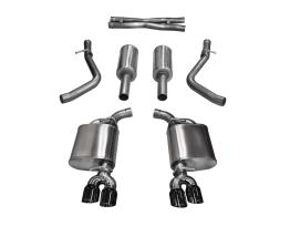 2.5 Inch Cat-Back Sport Dual Rear Exit Exhaust 3.5 Inch Black Tips 15-16 Dodge Challenger R/T 5.7L V8 Stainless Steel Corsa Performance