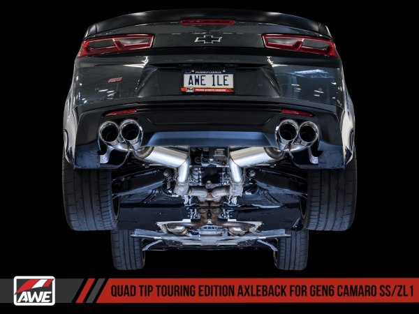 AWE Tuning Touring Axle-back Exhaust – Quad Exhaust   2016-2021+ Camaro SS/ZL1