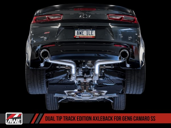 AWE Tuning Track Axle-back Exhaust – Dual Exhaust   2016-2021+ Camaro SS/ZL1