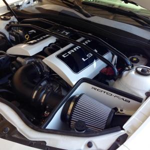 Camaro V8 Aluminum Engine Covers 13-15 Camaro Painted Roto-fab