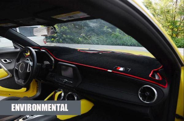 Interior Dashboard Mat Cover (Black/Red/Yellow) | 2016-2020 Chevy Camaro