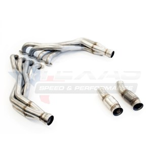 Texas Speed 1-7/8″ Stainless Steel Long Tube Headers & Off-Road Connection Pipes | 2016-2021+ Chevy Camaro SS