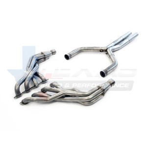 Texas Speed 2.0″ Stainless Steel Long Tube Headers & 3″ Stainless Steel Off-Road X-Pipe | 2016-2021+ Chevy Camaro SS