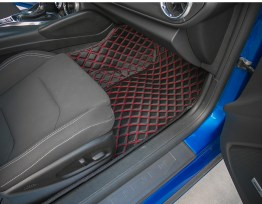 Diamond Stitch Interior Mats (Many Colors) | Any Vehicle