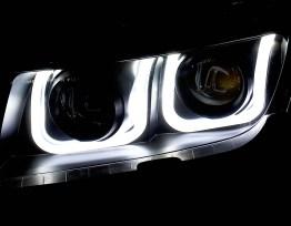 Smoked U Shaped Halo Projector Headlights | 2014-15 Camaro