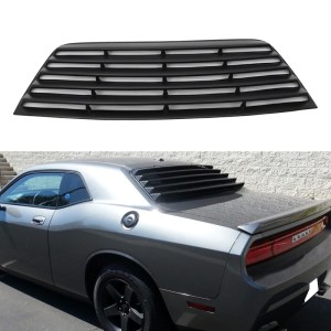 Rear Window Louvers | 2008-2021 Dodge Challenger